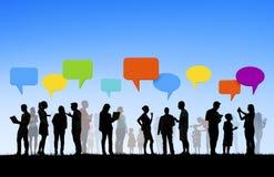 Groupe de mise en réseau multi-ethnique de Social de personnes Images libres de droits