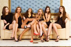 Groupe de modèles Photos stock