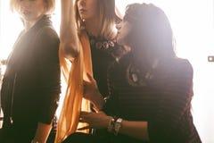 Groupe de mode de belles jeunes femmes Image stock