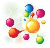 Groupe de molécule Photos libres de droits
