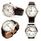 Groupe de montres mécaniques des hommes Photo stock