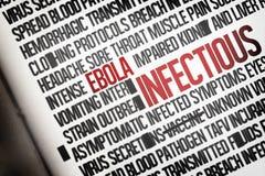 Groupe de mot d'ebola produit par Digital Image libre de droits