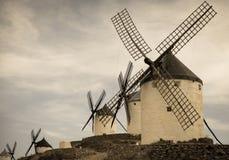 Groupe de moulins à vent Image libre de droits