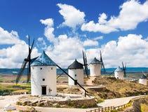 Groupe de moulins à vent Photos stock
