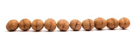 Groupe de noix sur le blanc Concept sain d'aliment biologique images stock