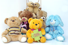Groupe de nounours Images stock