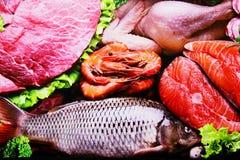 Groupe de nourritures fraîches Images stock