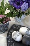 Groupe de Pâques, noir et blanc Photographie stock libre de droits