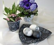 Groupe de Pâques, noir et blanc Photo libre de droits