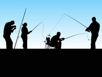 Groupe de pêcheurs Photos stock