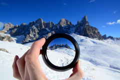 Groupe de Pale di San Martino image stock