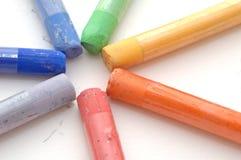 Groupe de pastels mous d'isolement Photo stock