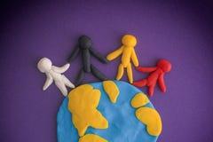 Groupe de personnes à travers le monde Photos libres de droits