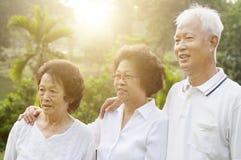 Groupe de personnes asiatiques d'aînés Photo libre de droits