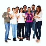Groupe de personnes avec des pouces vers le haut Photo libre de droits