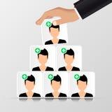 Groupe de personnes Concept d'affaires pyramide organisation Images libres de droits
