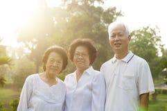 Groupe de personnes d'aînés Image stock