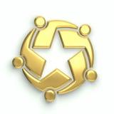 groupe de personnes 3D l'illustration d'étoile Images stock