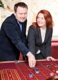 Groupe de personnes dans le casino Photo libre de droits