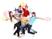 Groupe de personnes dans le chapeau de réception. Images stock
