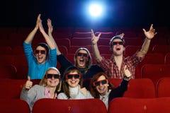 Groupe de personnes dans le cinéma Photographie stock