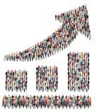 Groupe de personnes de croissance marketing de graphique de gestion de succès Photos stock