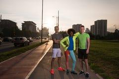 Groupe de personnes de portrait multi-ethnique sur pulser Photo libre de droits