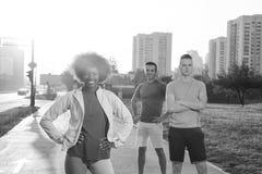 Groupe de personnes de portrait multi-ethnique sur pulser Images libres de droits