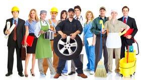 Groupe de personnes de travailleurs photo libre de droits