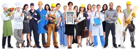 Groupe de personnes de travailleurs images libres de droits