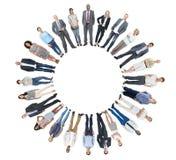 Groupe de personnes divers avec l'espace de copie Photo libre de droits