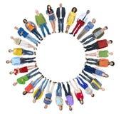 Groupe de personnes divers avec l'espace de copie Image stock