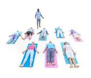 Groupe de personnes en bonne santé dans la forme physique Images libres de droits