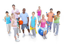Groupe de personnes en bonne santé dans la forme physique photos stock