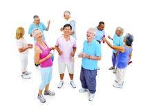 Groupe de personnes en bonne santé dans la forme physique exerçant le concept Photographie stock libre de droits