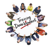 Groupe de personnes et développement de formation de mot photographie stock