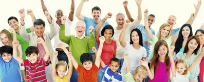 Groupe de personnes le concept de bonheur de célébration de la Communauté Photos libres de droits