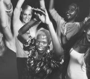 Groupe de personnes le concept de danse Photos stock