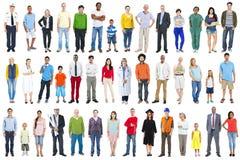 Groupe de personnes mélangées diverses multi-ethniques de profession Images libres de droits