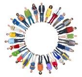 Groupe de personnes multi-ethnique avec Copyspace Photographie stock libre de droits