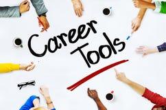 Groupe de personnes multi-ethnique concepts et d'outils de carrière images stock