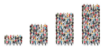 Groupe de personnes sel de diagramme de croissance des bénéfices de concept d'affaires de succès Image libre de droits