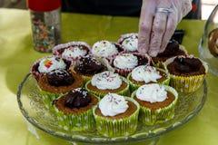 Groupe de petit gâteau Photographie stock libre de droits