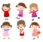 Groupe de petites filles Photo libre de droits