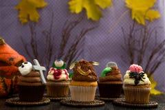 Groupe de petits gâteaux de horor de Halloween Photo stock