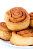 Groupe de petits pains de cannelle photos libres de droits