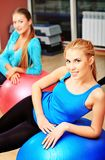 Groupe de Pilates Photos libres de droits