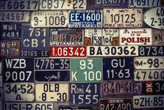 Groupe de plaques minéralogiques Photographie stock