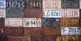 Groupe de plaques minéralogiques américaines de vieux cru images libres de droits