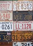 Groupe de plaques minéralogiques américaines de vieux cru photographie stock